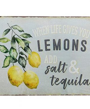 Barnyard Designs When Life Gives You Lemons Add Salt Tequila Funny Retro Vintage Tin Bar Sign Country Home Decor 13 X 10 0 300x360