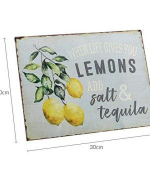 Barnyard Designs When Life Gives You Lemons Add Salt Tequila Funny Retro Vintage Tin Bar Sign Country Home Decor 13 X 10 0 4 300x360