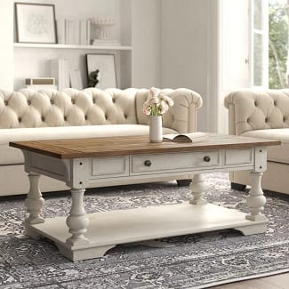 Belle Meade Solid Wood Coffee Table with Storage