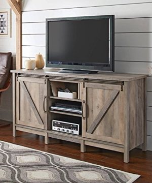 Better Homes And Gardens Modern Farmhouse TV Stand Rustic Gray Finish 0 300x360