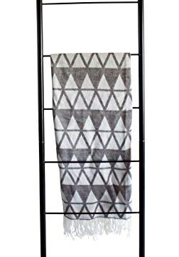 Blanket Ladder Modern Rustic Decorative Metal Leaning Ladder Rack 5 Ft Tall Towel Drying And Display Rack Quilt And Blanket Display Ladder 0 252x360