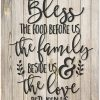 Bless The Food Before Us Rustic Wood Style Wall Sign 12x15 0 100x100