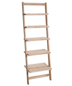 Book Shelf For Living Room Bathroom And Kitchen Shelving Home Dcor By Lavish Home 5 Tier Decorative Leaning Ladder Shelf Wood Display Shelving 0 300x360