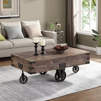 Bronze Epp Wheel Coffee Table