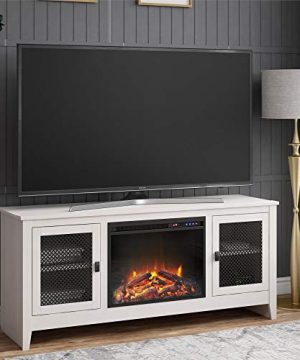 Brookstone Fireplace TV Stand For TVs Up To 65 Ivory Oak 0 300x360