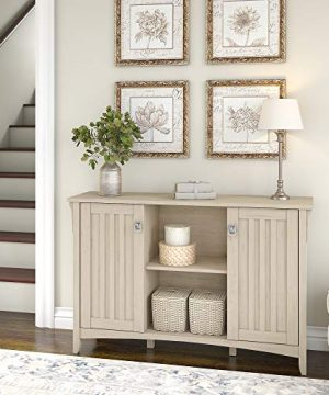 Bush Furniture Salinas Accent Storage Cabinet With Doors In Antique White 0 0 300x360