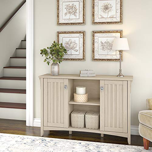 Bush Furniture Salinas Accent Storage Cabinet With Doors In Antique White 0 0