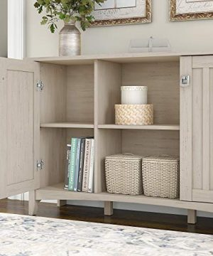 Bush Furniture Salinas Accent Storage Cabinet With Doors In Antique White 0 1 300x360