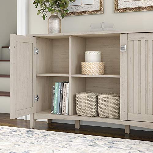 Bush Furniture Salinas Accent Storage Cabinet With Doors In Antique White 0 1