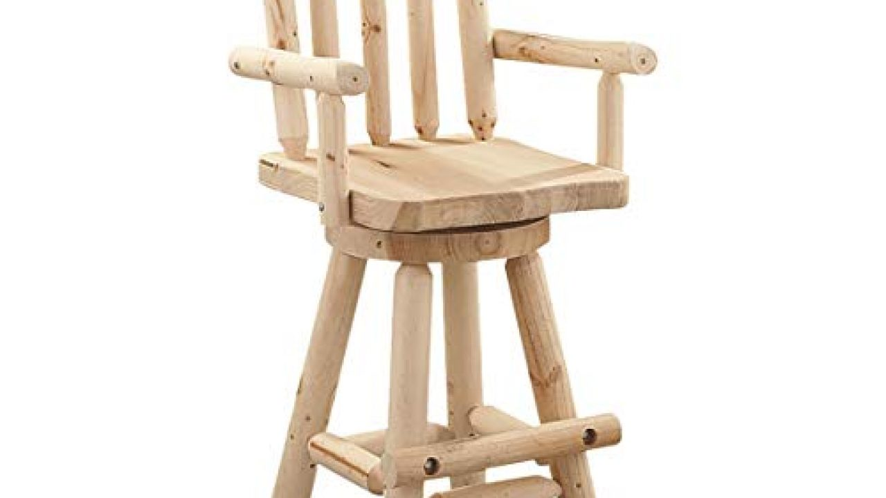 Oversized Log Swivel Bar Stool