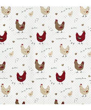 Cackleberry Home Farmhouse Chicken Cotton Fabric Tablecloth 60 X 84 Rectangular 0 0 300x360
