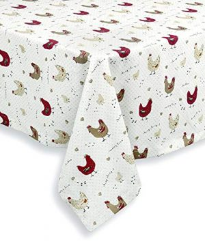 Cackleberry Home Farmhouse Chicken Cotton Fabric Tablecloth 60 X 84 Rectangular 0 300x360