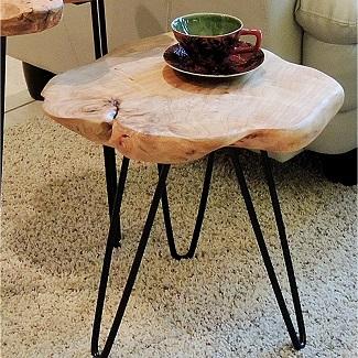 Cedar End Table Accent Table