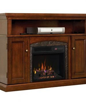 ChimneyFree Lynwood Electric Fireplace Entertainment Center In Vintage Cherry 18MM4105 C233 0 300x360