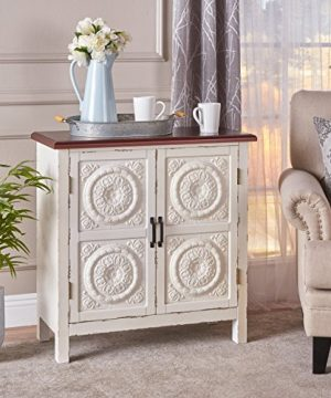 Christopher Knight Home Alana Firwood Cabinet Distressed WhiteBrown 0 300x360