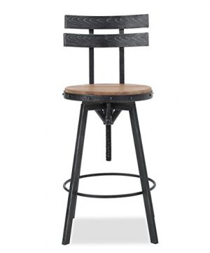Christopher Knight Home Alanis Black Brush Silver Firwood Bar Stool 0 300x360