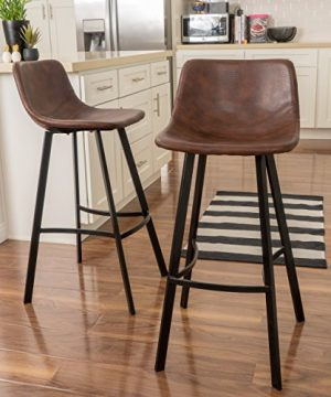 Christopher Knight Home Dax Snake Skin Brown Bar Stool Set Of 2 0 300x360