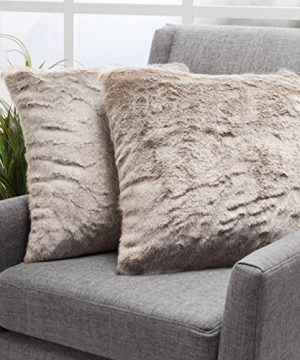 Christopher Knight Home Ellison Light Brown Decorative Faux Fur Fabric Throw Pillow Set Of 2 Ideal For The Living Room Or Bedroom Plush Texture 0 300x360