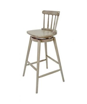 Christopher Knight Home Mia Farmhouse Spindle Back 30 Rubberwood Swivel Barstools Set Of 2 Aged Gray 0 2 300x360