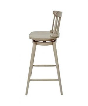 Christopher Knight Home Mia Farmhouse Spindle Back 30 Rubberwood Swivel Barstools Set Of 2 Aged Gray 0 3 300x360