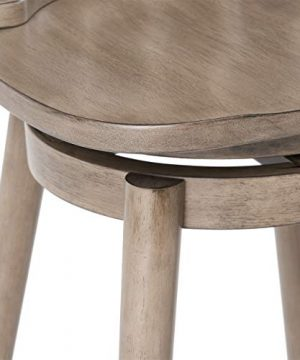 Christopher Knight Home Mia Farmhouse Spindle Back 30 Rubberwood Swivel Barstools Set Of 2 Aged Gray 0 4 300x360