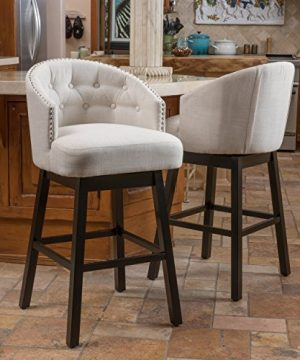 Christopher Knight Home Ogden Barstool Set Of 2 Beige 0 300x360