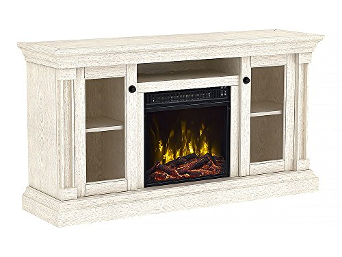 Classic Flame Foxmoor Electric Fireplace TV Stand White Oak 18MM7325 PO34S 0 0