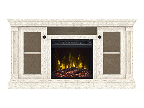 Classic Flame Foxmoor Electric Fireplace TV Stand White Oak 18MM7325 PO34S 0 3