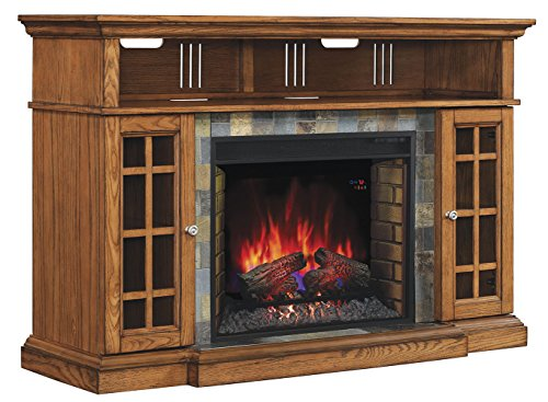 Classicflame 28mm6307 O107 Lakeland Tv Stand For Tvs Up To 65 Premium Oak Electric Fireplace Insert Sold Separately Farmhouse Goals