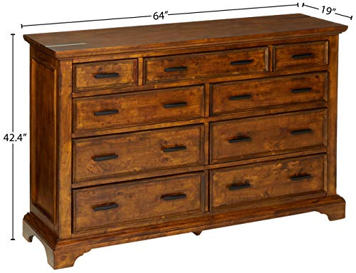 Coaster Home Furnishings Elk Grove 9 Drawer Dresser With Jewelry Tray Vintage Bourbon 0 3