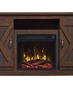 Comfort Smart Killian Electric Fireplace TV Stand Espresso 0 300x360