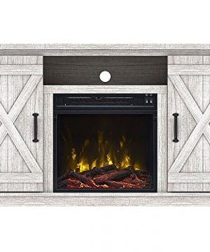 Comfort Smart Killian Electric Fireplace TV Stand Sargent Oak 0 300x360