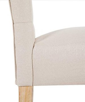DAGONHIL 30 Inches Counter Height Bar Chairs With Button Tufted Back Solid Wood StoolsSet Of 2Tan 0 3 300x360