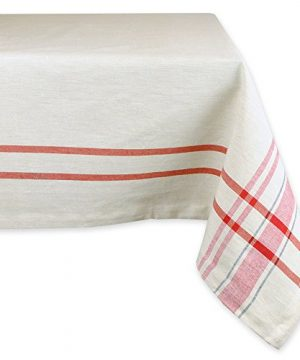 DII 100 Cotton Machine Washable Dinner Summer Picnic Tablecloth 60 X 104 French Stripe Seats 8 To 10 People 0 300x360