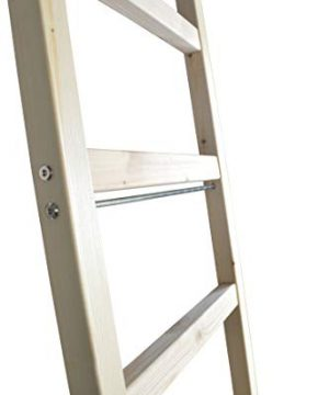 DIYHD 96 Knotty Pine Wood Sliding Library Ladder Rolling LadderUnfinished 0 2 300x360