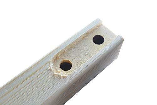DIYHD 96 Knotty Pine Wood Sliding Library Ladder Rolling LadderUnfinished 0 4