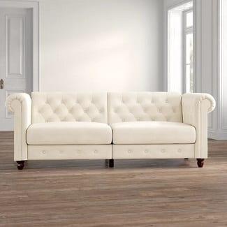 Dallas Velvet 89.5 Rolled Arm Sofa