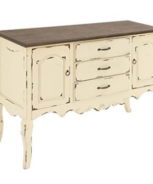 Deco 79 Farmhouse Beige Brown Wood Cabinet W 3 Drawers 2 Cabinets 48 X 33 0 0 300x360