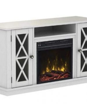 DesignTN Entertainment Center With Fireplace TV Console With Fireplace White For TVs Up To 55 Inch A Must Have For Living Areas And Entertainment Spaces 0 0 300x360