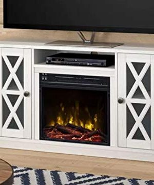 DesignTN Entertainment Center With Fireplace TV Console With Fireplace White For TVs Up To 55 Inch A Must Have For Living Areas And Entertainment Spaces 0 300x360