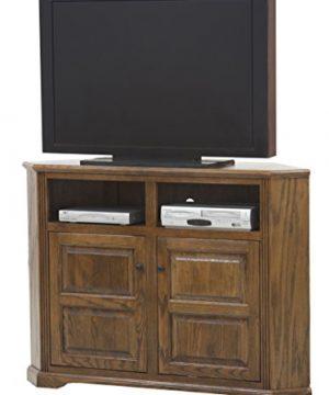 Eagle Oak Ridge Tall Corner TV Console 56 Wide Concord Cherry Finish 0 300x360