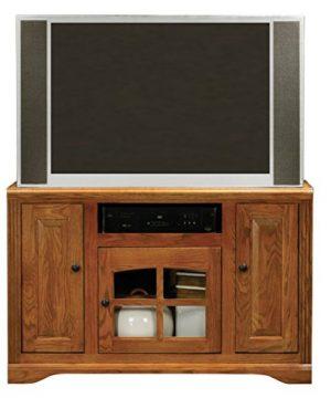 Eagle Oak Ridge Tall TV Cart 45 Wide Dark Oak Finish 0 300x360