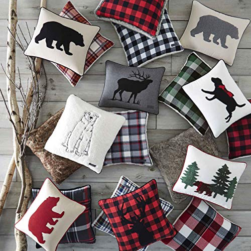 Eddie Bauer Bear Twill Decorative Pillow Gray 0 0