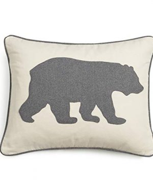 Eddie Bauer Bear Twill Decorative Pillow Gray 0 300x360