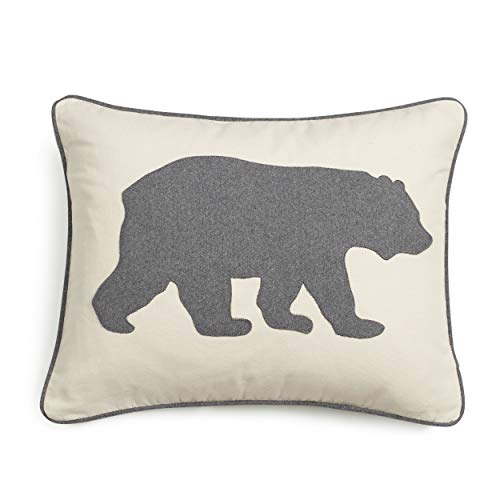 Eddie Bauer Bear Twill Decorative Pillow Gray 0