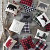 Eddie Bauer Throw Pillow Fur Cabin Plaid Black 0 0 100x100