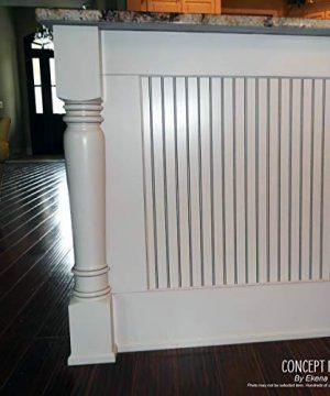Ekena Millwork COL03X03X35KERW 3 34 Inch W X 3 34 Inch D X 35 12 Inch H Kent Raised Panel Cabinet Column Rubberwood 0 2 300x360