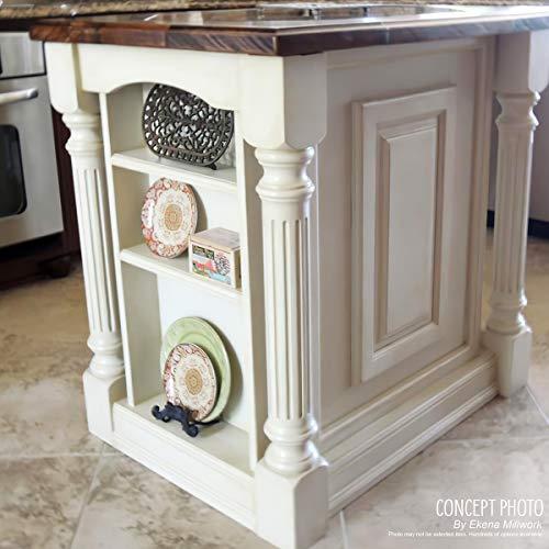 Ekena Millwork COL03X03X35KERW 3 34 Inch W X 3 34 Inch D X 35 12 Inch H Kent Raised Panel Cabinet Column Rubberwood 0 4