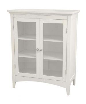 Elegant Home Fashions Madison Collection Shelved Double Door Floor Cabinet White 0 300x360