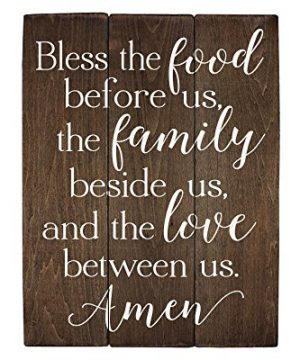 Elegant Signs Bless The Food Before Us Sign Wood Sign Kitchen Wall Decor Wood Kitchen Sign 11 X 14 Inch 0 300x360
